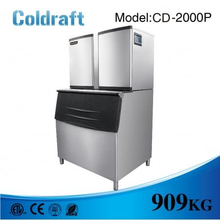 Máy làm đá viên Coldraft  CD-2000P sản lượng 909Kg/24h