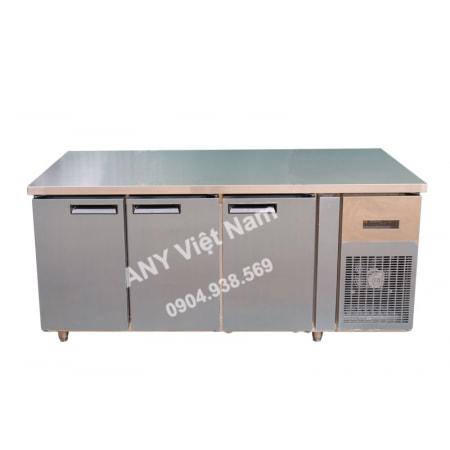 Tủ bàn mát 3 cánh inox quạt gió BM180x76-3I