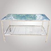 Bàn sơ chế inox bàn chặt inox 1.35 x 0.66 m