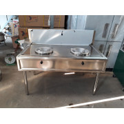 Bếp Á công nghiệp 2 họng dùng gas có vòi nước