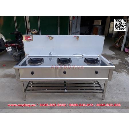 Bếp Á công nghiệp 3 họng dùng gas có vòi nước