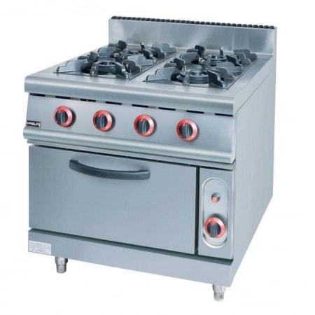 Bếp âu 4 họng kèm lò nướng dùng gas YS-RQ-4
