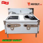 Bếp từ công nghiệp inox đôi 16kw mặt lõm-phẳng