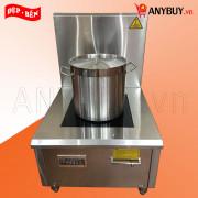 Bếp từ công nghiệp inox đơn mặt phẳng 8kw (VN)