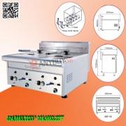 Bếp chiên nhúng gas đôi Berjaya GDF-11D