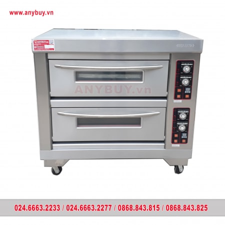 Lò nướng bánh dùng điện 2 tầng Berjaya BJY-E13KW-2BD