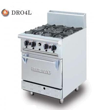 Bếp âu 4 họng gas có lò nướng  DRO-4L
