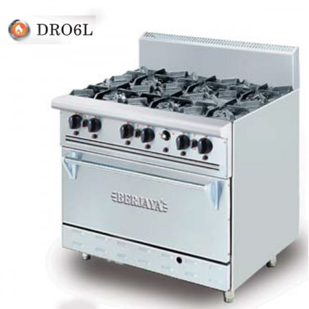 Bếp âu 6 họng gas có lò nướng  DRO-6L