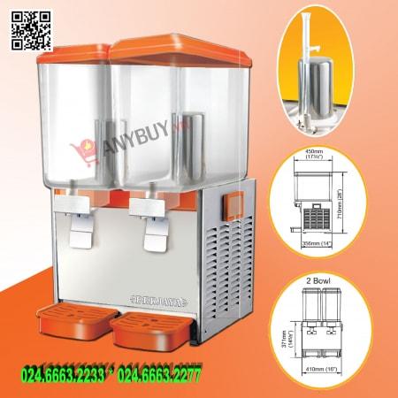 Máy giữ lạnh nước trái cây 2 bình Berjaya JD-218-JET