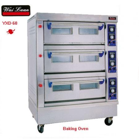 Lò nướng bánh công nghiệp 3 tầng dùng điện YXD-60