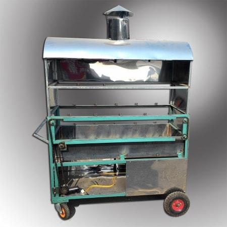 Lò nướng vịt ngoài trời dùng than 2 tầng 10 xiên