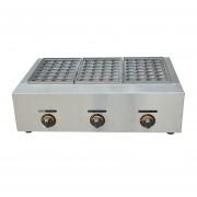 Máy làm bánh nhân bạch tuộc takoyaki 3 bếp dùng gas YE-65.R
