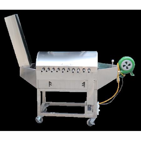 Máy nướng chả inox 10 xiên và quạt thổi LCH-10N1M
