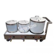 Bộ nồi nấu phở liền bàn dung tích 20-20-60 lít NP-3N202060L