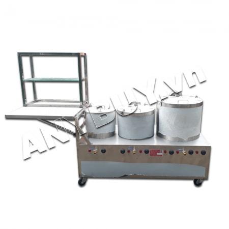 Bộ nồi điện nấu phở liền bàn dung tích 30-50-80 kệ để bàn