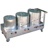 Bộ nồi nấu phở 20-40-60 lít liền bàn NP-3N120Lv2
