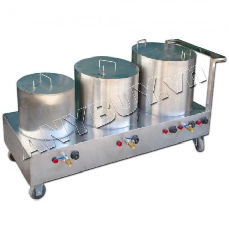 Bộ nồi nấu phở liền bàn dung tích 20-20-60 lít NP-3N100L