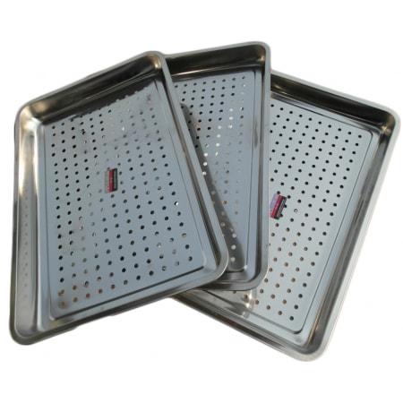 Khay hấp inox, khay inox có lỗ dùng cho tủ cơm, tủ hấp