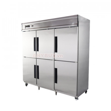 Tủ đông mát inox 6 cánh DM1750-4I