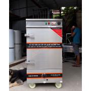 Tủ cơm điện 8 khay có APTOMAT hẹn giờ kết hợp gas