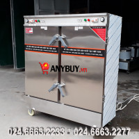 Tủ nấu cơm điện aptomat 24 khay kết hợp gas