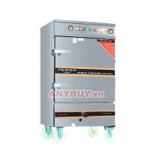 Tủ nấu cơm điện aptomat 12 khay kết hợp gas