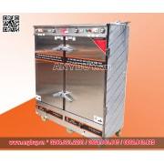 Tủ nấu cơm công nghiệp 24 khay điện  APTOMAT hẹn giờ và kết hợp ga