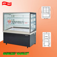 Tủ mát trưng bày bánh kính vuông Berjaya dài 180cm