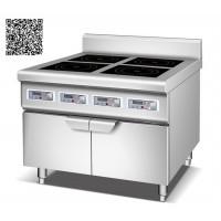 Bếp âu YS-4T dùng điện công suất 3.5KWx4 có tủ để đồ