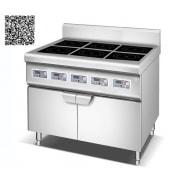 Bếp âu YS-6T dùng điện công suất 3.5KWx6 có tủ để đồ