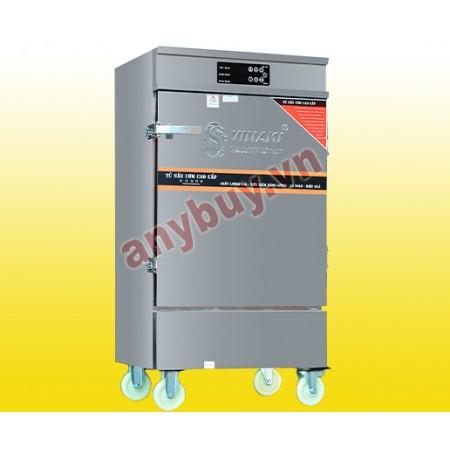 Tủ Nấu Cơm Điện Gas 12 Khay Có Bảng Điều Khiển