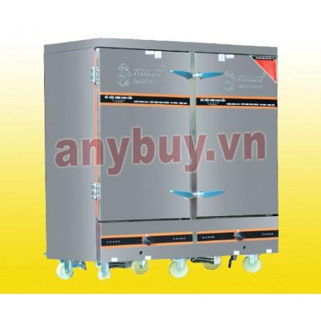 Tủ nấu cơm điện + gas 24 khay
