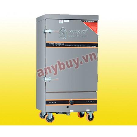 Tủ nấu cơm điện + gas 6 khay