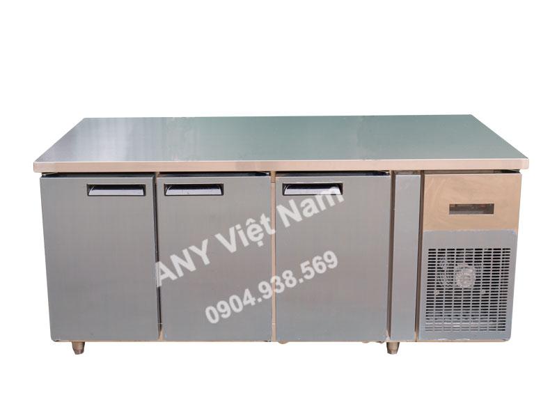 Bàn cấp đông lạnh 3 cánh inox, làm lạnh quạt gió, mã sản phẩm BM180x76-3I