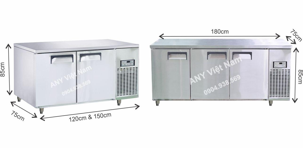 Bàn đông lạnh inox công nghiệp thương hiệu Việt Nam