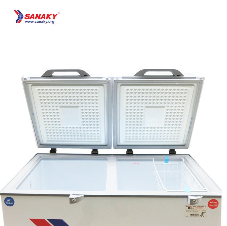 Tủ đông mát Sanaky VH-4099W4K | Kính cường lực | Dàn lạnh ống đồng