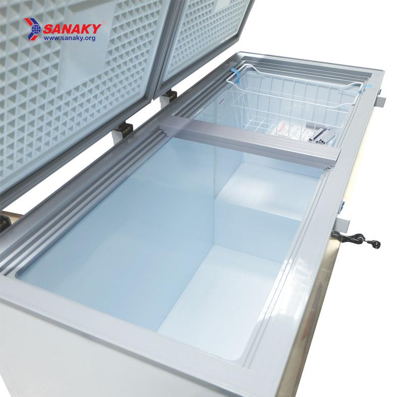 Tủ đông Sanaky VH-4099A2K | Kính cường lực | Dàn lạnh ống đồng