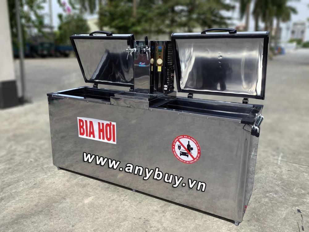 Tủ bảo quản bia tháp 7B30LT được thiết kế chứa 7 bom (keg) 30 lít hoặc 4 bom (keg) 50 lít hoặc 10 bom bia 20 lít