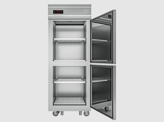 Chi tiết bên trong tủ đông inox 2 cánh DD600-2I