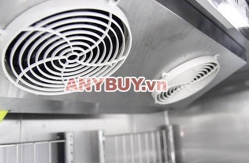 Hệ thống đảo nhiệt quạt gió sử dụng cho tủ cấp đông lạnh inox công nghiệp 1 cánh