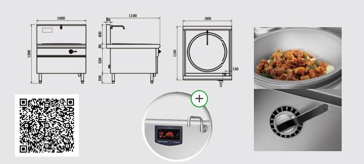 Thông số kỹ thuật Bếp điện từ YS-60DC công suất 12KW