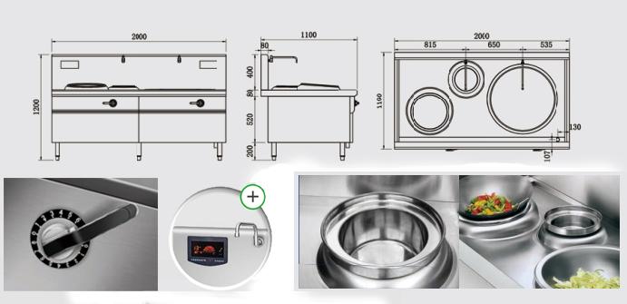 Bếp từ công nghiệp YS-Z400Y800 công suất 8KW
