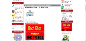 Hình ảnh tủ đông Darling trên trang bachkhoasuachua