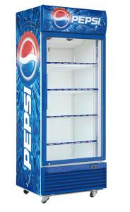 Mẫu tủ mát của Pepsi khá ấn tượng