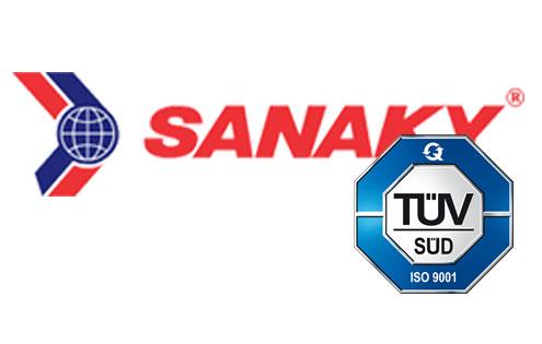 Sanaky đạt chứng chỉ ISO 9001-2008