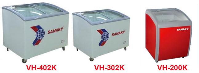 Dòng tủ đông kính cong của Sanaky