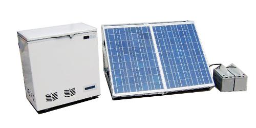 Tủ đông năng lượng mặt trời với panel lớn hơn và ắc quy đôi
