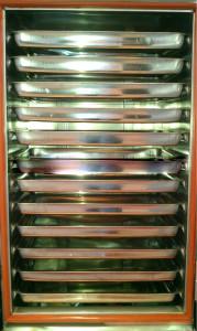 Mặt trong tủ cơm 12 khay