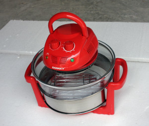 Lò nướng thủy tinh màu đỏ