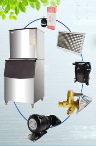 Các bộ phận chính của máy làm đá viên HS-250